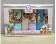 Набор новогодних полотенец кухонных Nilteks 6 штук 40x60 вафельные с вышивкой Balloons Tiger