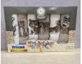 Набор новогодних полотенец кухонных Nilteks 6 штук 40x60 вафельные с вышивкой Friend Tigers