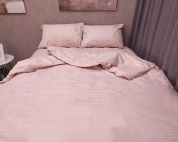 Постельное белье LARA сатин-страйп Pudra d13008d двуспальное