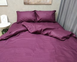 Постельное белье LARA сатин-страйп Violet d13038d двуспальное