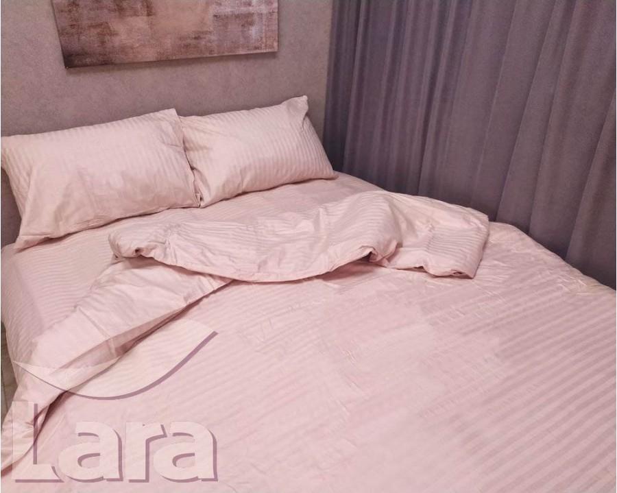 Постельное белье LARA сатин-страйп Pudra d13008e евро