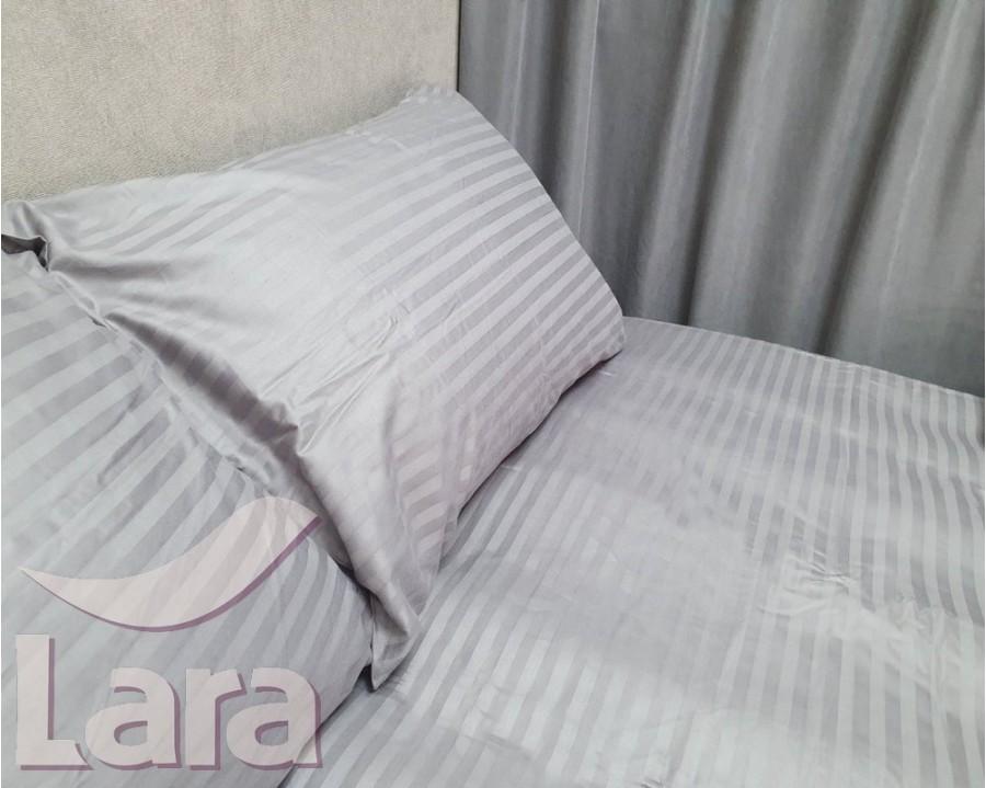 Постільна білизна LARA сатин-страйп Gray d13042p полуторна