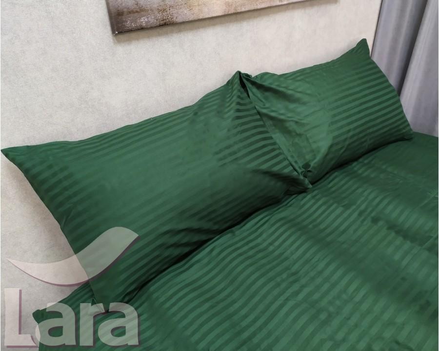 Постільна білизна LARA сатин-страйп Green d13037e євро