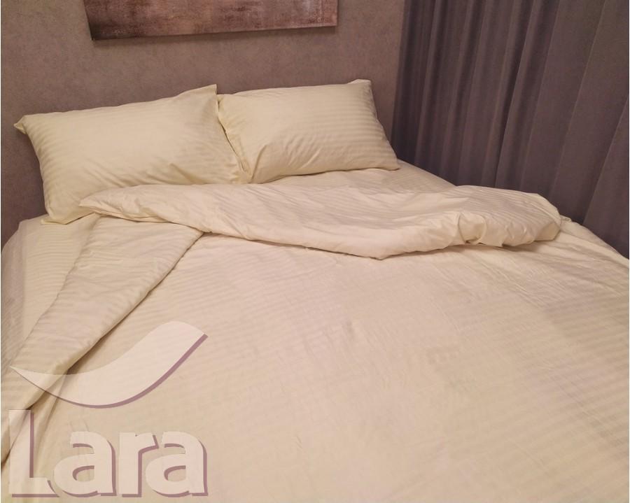Постільна білизна LARA сатин-страйп Beige d13093e євро