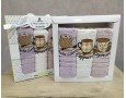 Набор полотенец кухонных 30х50 Monna Bella 3 штуки махровые с вышивкой Кофе светлый