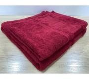 Набор махровых полотенец 50х90+70х140 GM TEXTILE Узбекистан Bamboo new 450 г/м2 красный