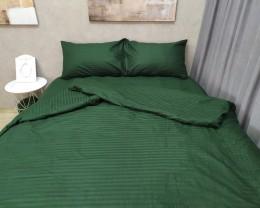 Постельное белье LARA сатин-страйп Green d13037d двуспальное