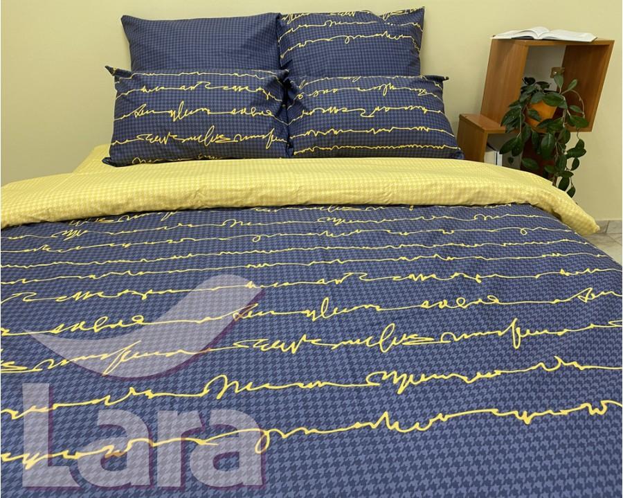 Постельное белье LARA ранфорс d12029d двуспальное 4 наволочки в комплекте