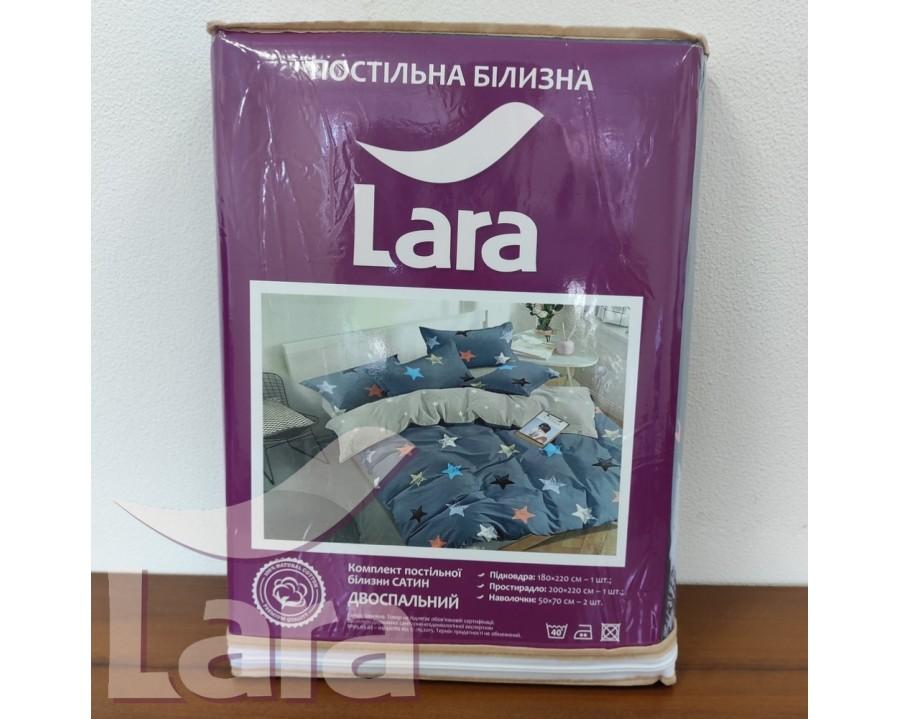 Постельное белье LARA сатин d13072d двуспальное