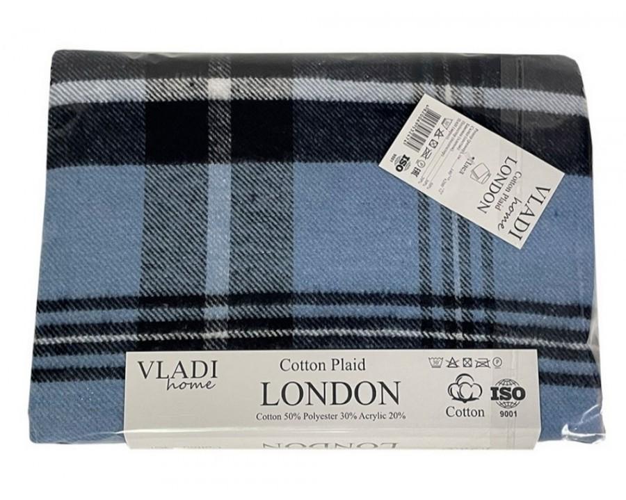 Плед Vladi Лондон синий 140х200