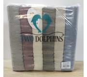 Набор махровых полотенец 70х140 Two Dolphins 6 штук AK6 Asticus