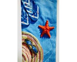 Полотенце велюровое пляжное Turkey 80х150 Летний лук