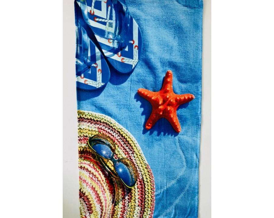 Рушник велюровое пляжне Turkey 80х150 Літній лук