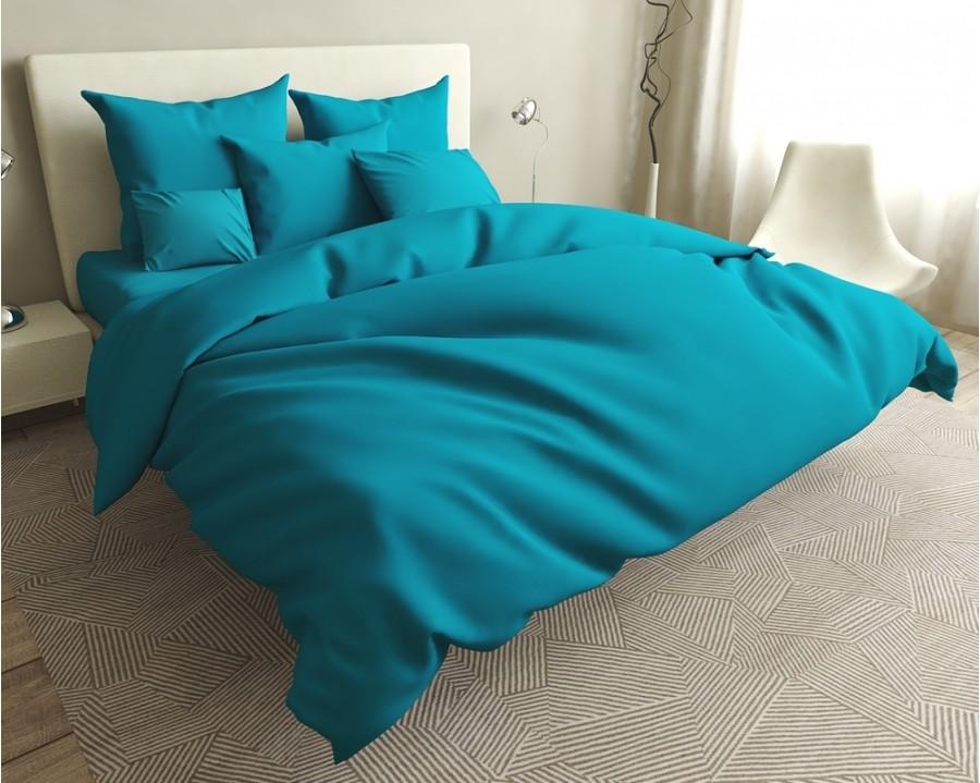 Постільна білизна LARA бязь d11189d Turquoise двоспальна