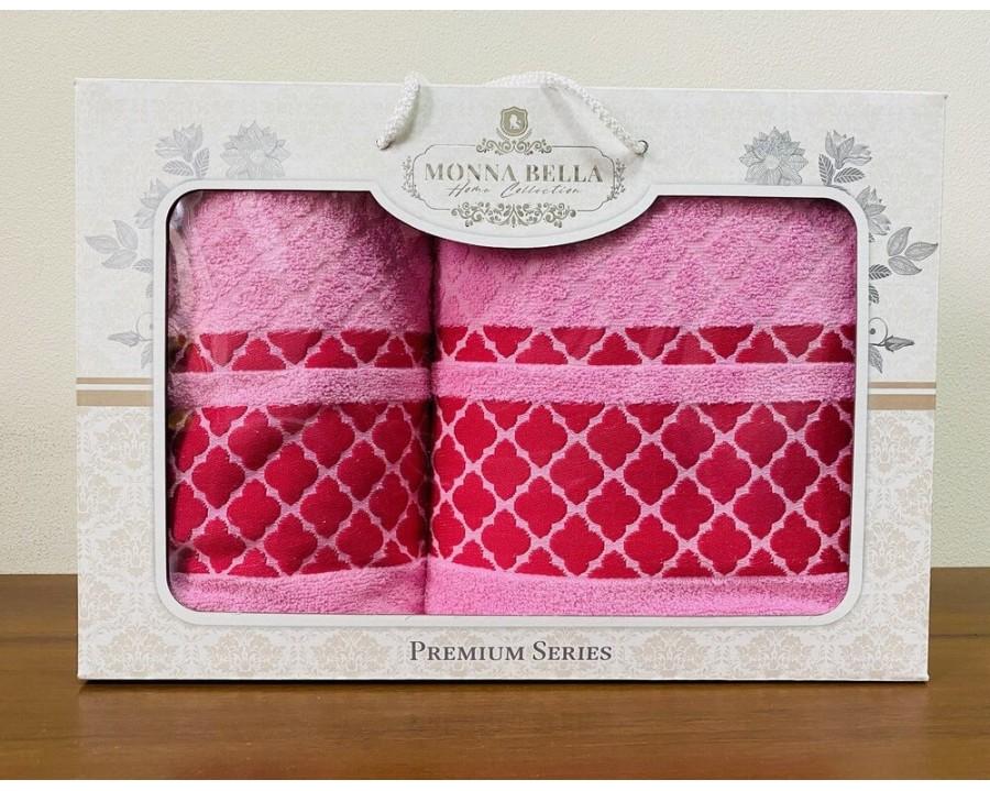 Набор полотенец 50x90+70х140 Monna Bella махра розовый