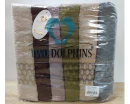 Набор махровых полотенец 70х140 Two Dolphins 6 штук E873 Sally