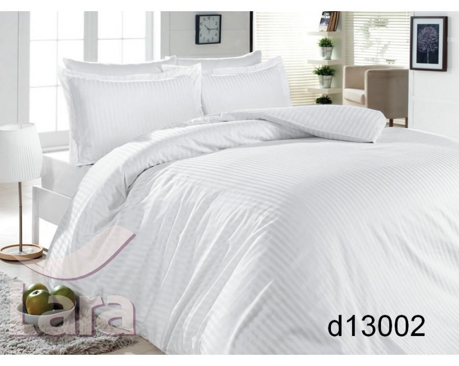 Постельное белье LARA сатин-страйп белое d13002d2 двуспальное