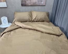 Постельное белье LARA сатин-страйп Bisquit d13006d двуспальное