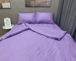 Постельное белье LARA сатин-страйп Lavender d13007d двуспальное