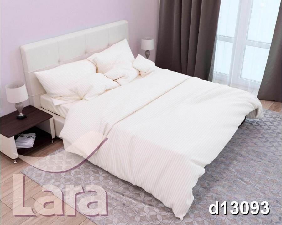 Постельное белье LARA сатин-страйп Beige d13093d двуспальное