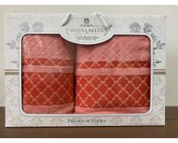 Набор полотенец 50x90+70х140 Monna Bella махра персиковый