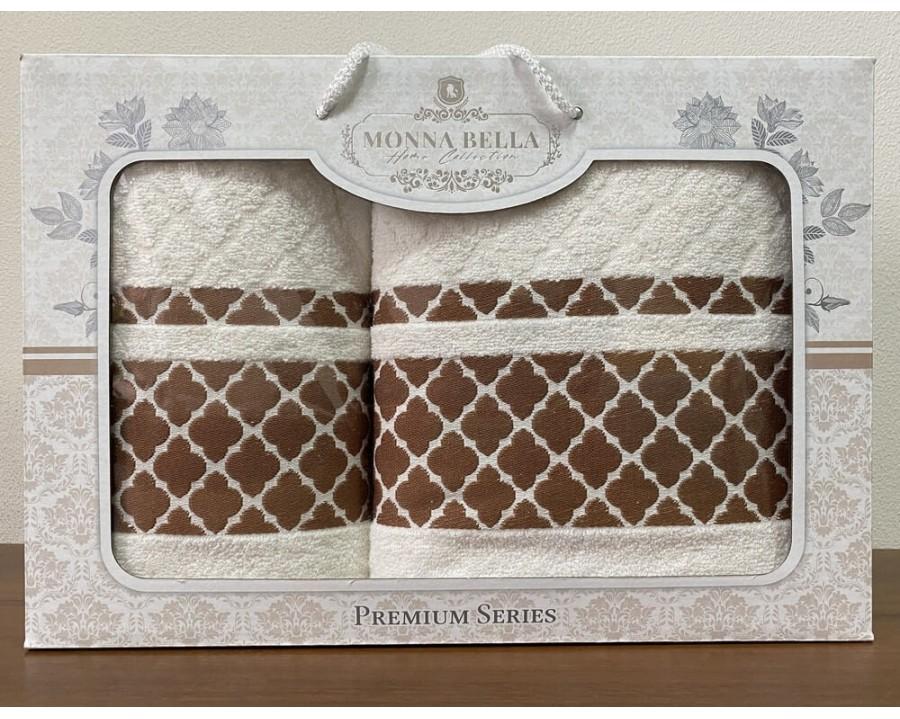 Набор полотенец 50x90+70х140 Monna Bella махра молочный