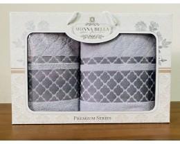 Набор полотенец 50x90+70х140 Monna Bella махра серый