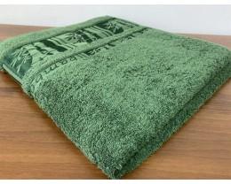 Полотенце махровое 50х90 GM TEXTILE Узбекистан Bamboo new 450 г/м2 зеленое