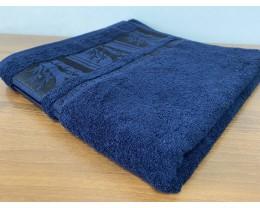 Полотенце махровое 70х140 GM TEXTILE Узбекистан Bamboo new 450 г/м2 темно-синее