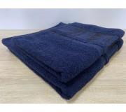 Набор махровых полотенец 50х90+70х140 GM TEXTILE Узбекистан Bamboo new 450 г/м2 синий