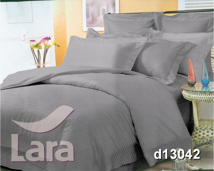 Постельное белье LARA сатин-страйп Gray d13042d2 двуспальное