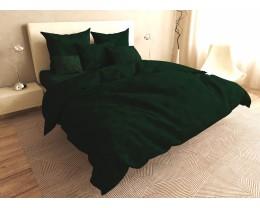 Постельное белье LARA бязь-страйп Green d11225e евро