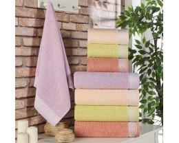 Набор махровых полотенец Zeron 4 штуки Motif Petekli Desen 70х140