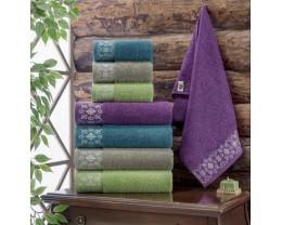 Набор махровых полотенец Zeron 4 штуки Papatya Desen 50х90