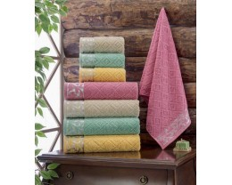 Набор махровых полотенец Zeron 4 штуки Salkim Desen 50х90