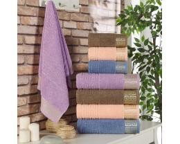 Набор махровых полотенец Zeron 4 штуки Grek Desen 50х90