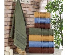 Набор махровых полотенец Zeron 4 штуки Baklava Desen 50х90