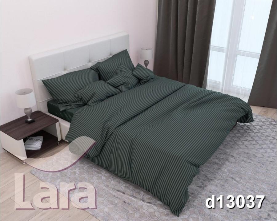 Постельное белье LARA сатин-страйп Green d13037s2 семейное