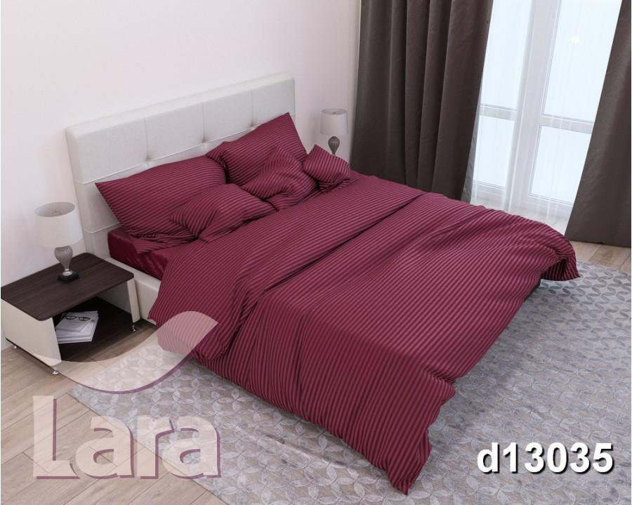 Постельное белье LARA сатин-страйп Bordo d13035s2 семейное