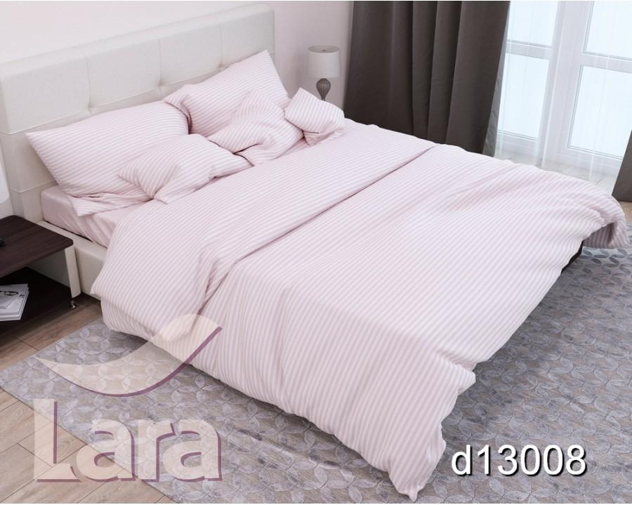 Постельное белье LARA сатин-страйп Pudra d13008s2 семейное