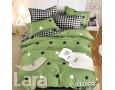 Постельное белье LARA бязь d11169d двуспальное 4 наволочки в комплекте