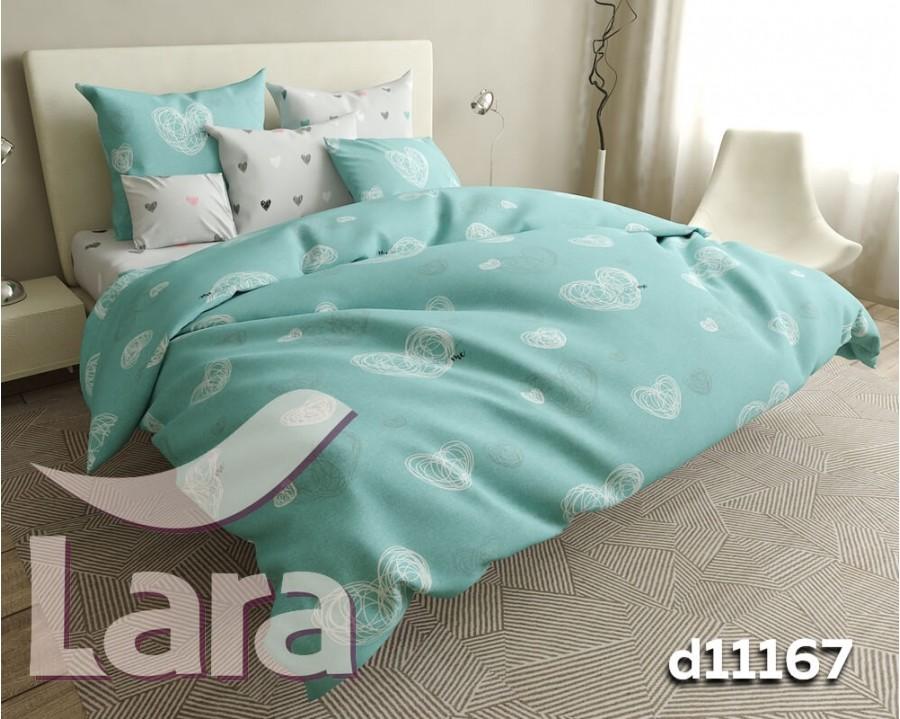 Постельное белье LARA бязь d11167d двуспальное 4 наволочки в комплекте