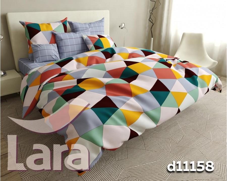 Постельное белье LARA бязь d11158d двуспальное 4 наволочки в комплекте