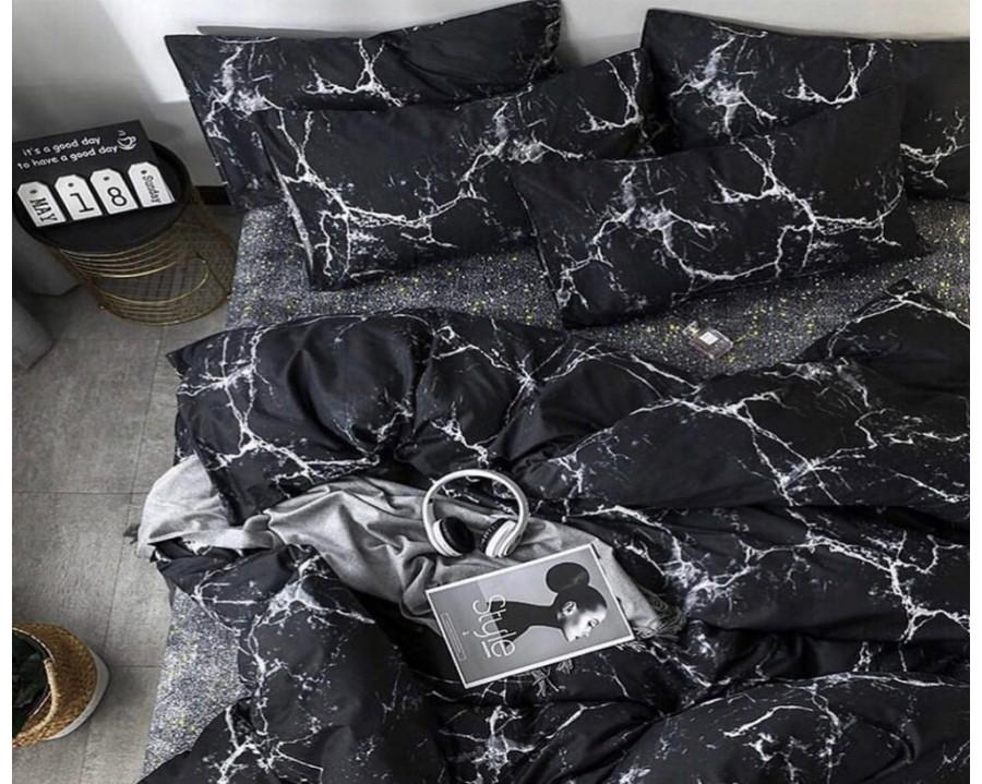 Постельное белье LARA ранфорс d12025d двуспальное 4 наволочки в комплекте