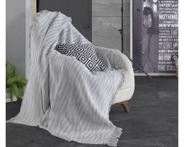 Плед-покрывало хлопковое Eponj Home Keten Verda Gri 170х220