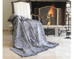 Плед-покрывало хлопковое Eponj Home Keten Linen Siyah 170х220