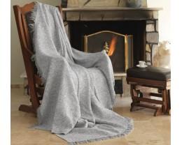 Плед-покрывало хлопковое Eponj Home Keten Linen Gri 170х220