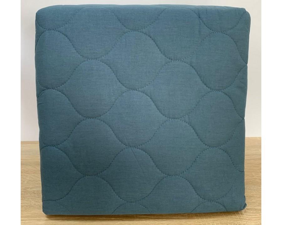 Покрывало стеганое EnLora Home ранфорс Fresh Color Dominik Yesil 225х240 с наволочками 50х70