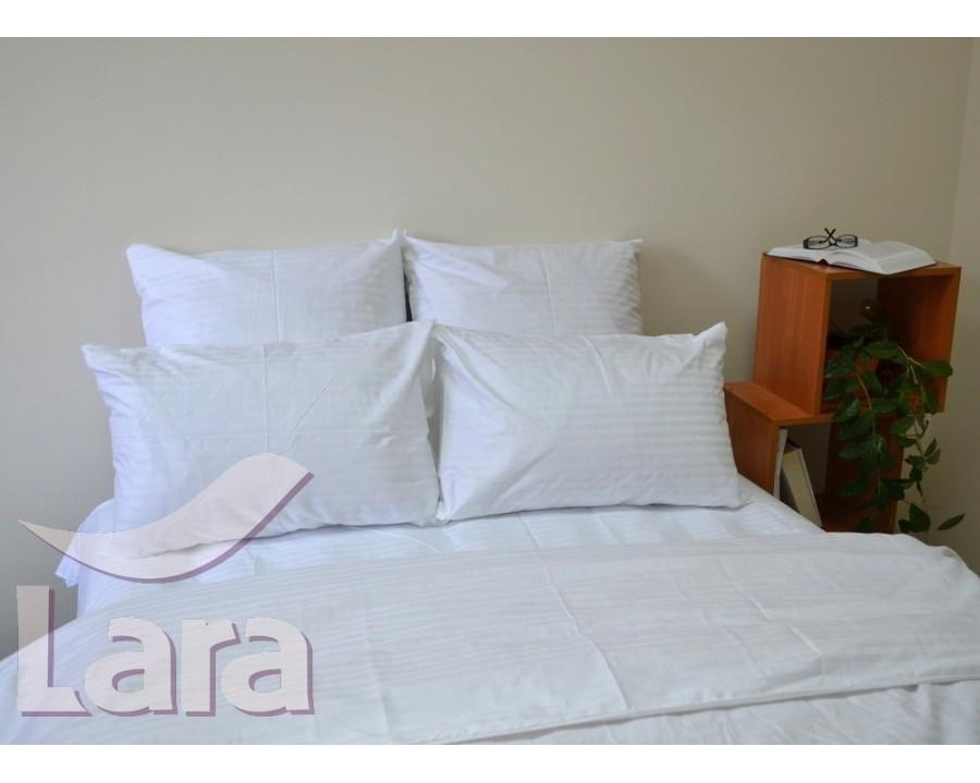 Постельное белье LARA сатин-страйп белое d13002p2 полуторное