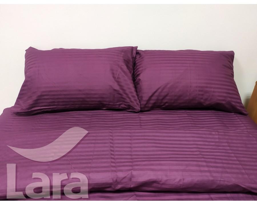 Постельное белье LARA сатин-страйп Violet d13038s2 семейное